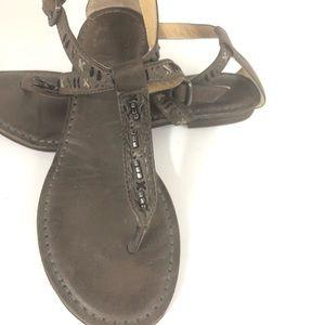 Frye Carson Boho Thong Leather Sandals